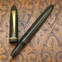 "Vintage Ballpoint Pen - Black Bakelite - ""PAPIRUS"" Bulgaria 1940s - $29.00"