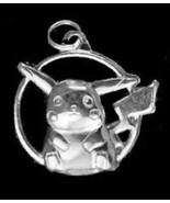 LOOK Pokemon Pikachu Sterling silver .925 Pocket Monster figure charm pe... - $19.34