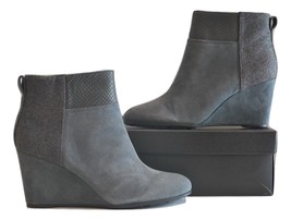 Tahari Sutton Women's Leather Ankle Boot SZ 8.5M Elephant Grey  - $29.99