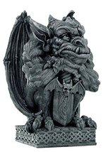16.5 Inch Grumpy Perched Gargoyle with Sword Statue Figurine - $98.99