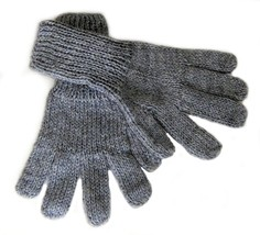 Alpakaandmore Women Hand-knitted Gloves Alpaca Wool (Small, Grey) - $22.77