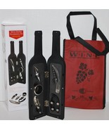 Wine Bottle Accessory Gift Set (5-PC) with Free Wine Tote - $14.99