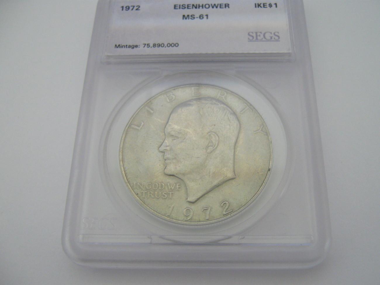 Eisenhower Dollar , Lot of 2 , Certified