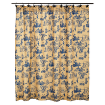 Elaine Shower Curtain - Azure
