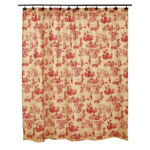 Elaine Shower Curtain - Rouge