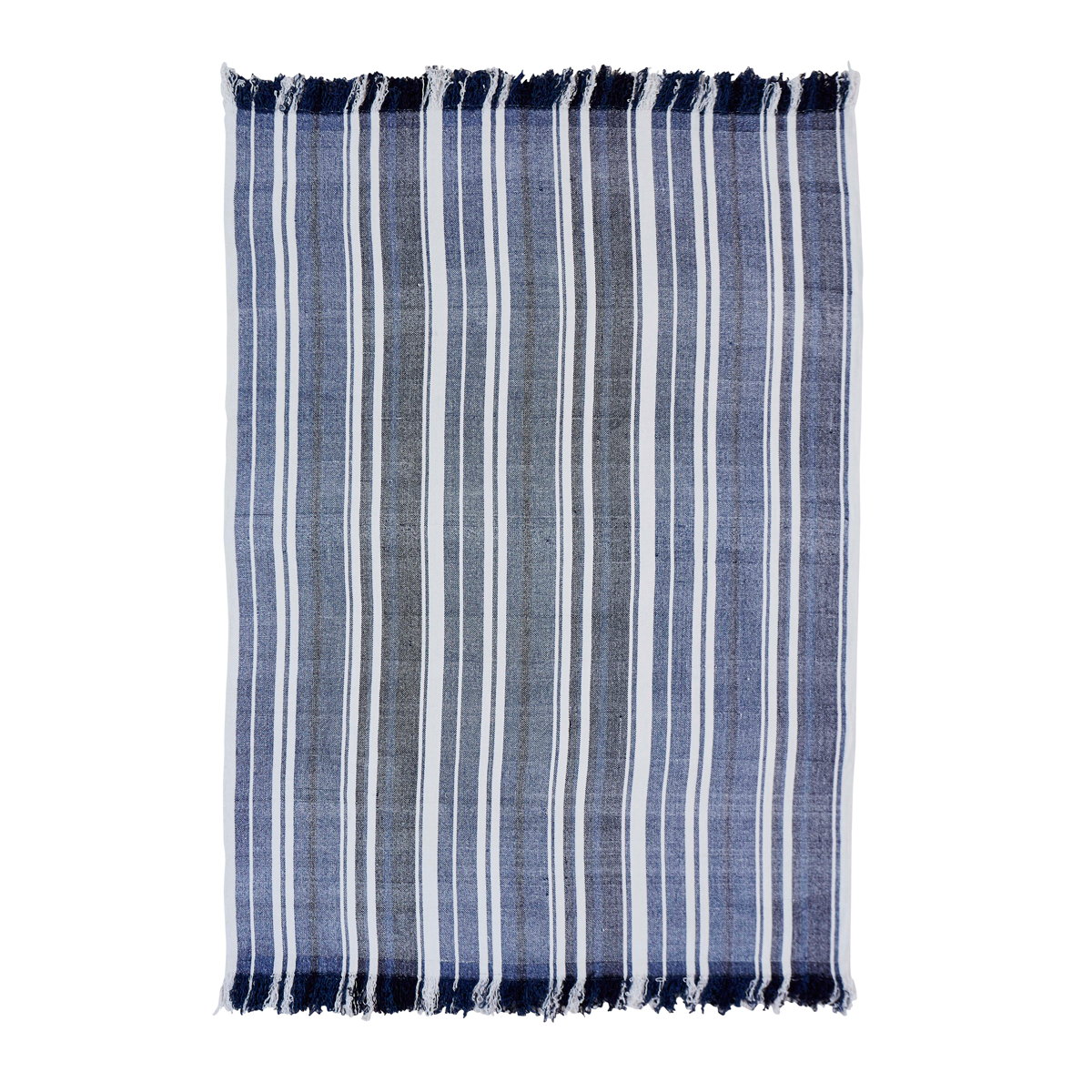 Huron Chambray Stripe Woven Throw