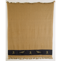 Kettle Grove Applique Woven Throw