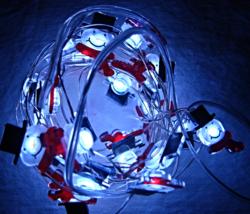 LED Snowmen Miniature Lights--25 10ft battery operated - $8.99