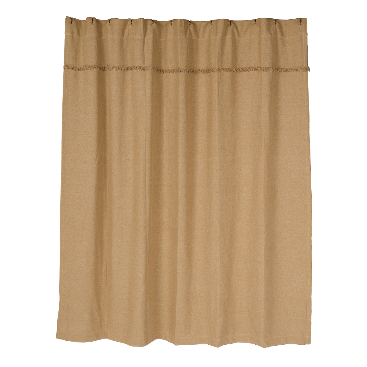 Burlap Natural Unlined Shower Curtain