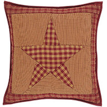 Ninepatchstar quilted pillow 16x16 front 200px copy thumb200