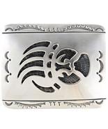Sterling Silver Belt Buckle Bear Paw Overlay Lo... - $374.00