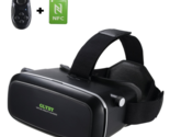 Glyby 3D VR Virtual Reality Glasses Headset with Head-mounted Headband and NFC T