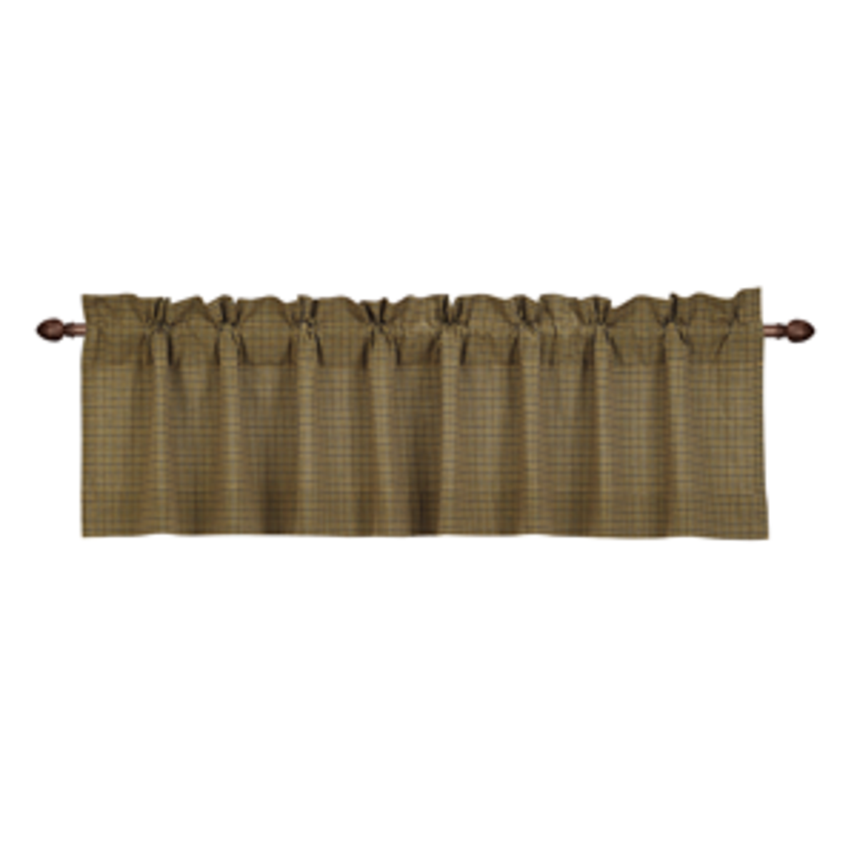 Tea Cabin Valance - Green Plaid - 16x72""