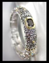 GORGEOUS Designer BALINESE Silver Gold Black Onyx Aqua Blue CZ Crystals ... - $572,37 MXN