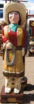 Gallagher 4' Cigar Store Indian OLD WEST COWGIRL Hand Carved Sculpture M... - $939.00