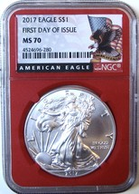2017 $1 American Silver Eagle. NGC MS70 First Day of Issue. - $65.00