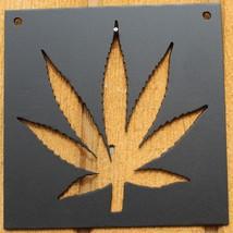 "Pot Leaf 7"" x 7"" Metal Wall Art Home Decor - $13.00"