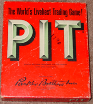 PIT CARD GAME OLD VINTAGE 1962 PARKER BROTHERS COMPLETE EXCELLENT - $25.00