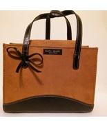 Kate Spade Tan Suede Black Leather Trim Small Handbag - $29.99