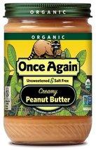 Once Again Organic Peanut Butter Creamy No Salt... - $28.46