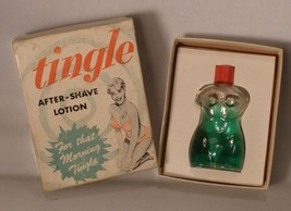 Tingle After Shave Lotion Torso Bottle and Box - $15.00