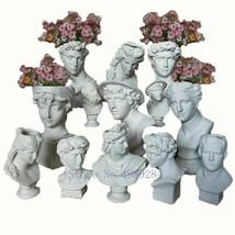 Apollo Venus David Head Vase Sculpture Resin Flower Pot Florist Home Dec... - $36.38+