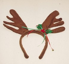 Reindeer Antlers with Christmas Holly Ribbon Headband - €5,19 EUR
