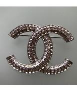 CHANEL 2017 CC Logo Crystal Medium Brooch Pin - STUNNING - $1,453.32