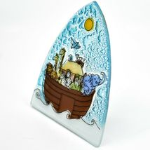 Fused Art Glass Noah's Ark Christian Religious Night Light Handmade in Ecuador image 3