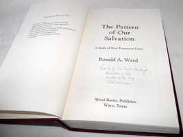 Pattern of Our Salvation Ronald Ward Study New Testament Unity Bible 197... - $19.78