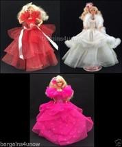 Set Of 3 1988 1989 1990 Happy Holidays Barbie D... - $79.96