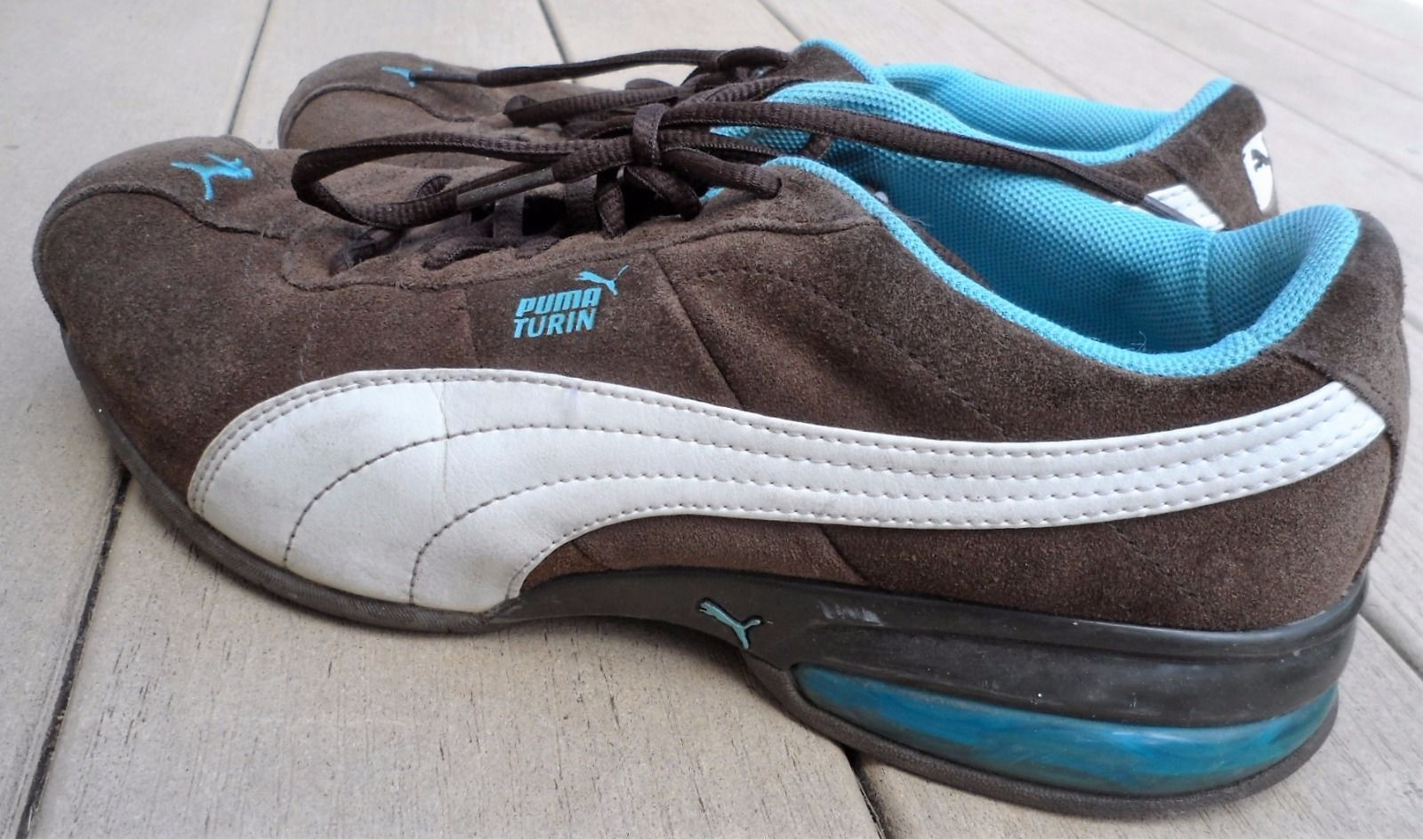 898ea8368e6 Womens Puma Cell Turin Brown Blue Leather and 50 similar items. S l1600