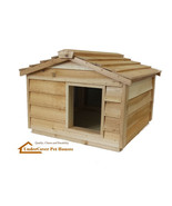 INSULATED CEDAR OUTDOOR CAT HOUSE SMALL DOG HOUSE FERAL CAT SHELTER PET ... - $189.00