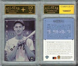 TED WILLIAMS SCARCE 1994 UPPER DECK GM CARD #9 GRADED ASG 10 MINT - $19.55