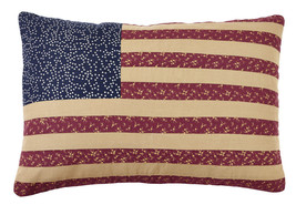 new Olivia's Heartland patriotic Americana handmade Old Glory Flag Pillow Cover - $28.95