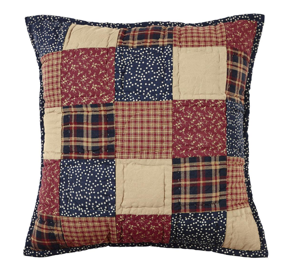 "Olivia's Heartland patriotic Americana handmade Old Glory Pillow Cover 16""x16"" - $24.95"