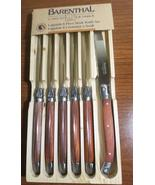 Barenthal Laguiole Wood Handle Steak Knives, 6 in Wood Tray - $36.00