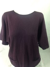 a.n.a. Women's Top Verona Purple Scooped Neck Size L Bin 28 #8 - $23.36