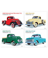 2016 47c Pickup Trucks, Artist Chris Lyons, Block of 4 Scott 5101-04 Mint VF NH - $2.86