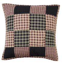 Olivia's Heartland country PLUM CREEK handmade quilted plaid Pillow Cover 16x16 - $24.95