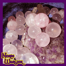 3 Healing Rose Quartz Spheres Crystal Balls! Wonderful Fairy Offerings &... - $19.99