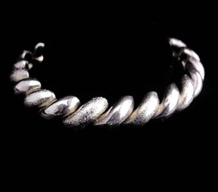 Wide San Marcos Bracelet / sterling link bracelet / signed jewelry / wom... - $155.00