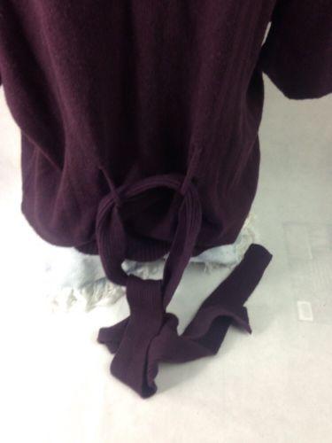 a.n.a. Women's Top Verona Purple Scooped Neck Size L Bin 28 #8