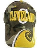 Cleveland Men's Adjustable C Wave Style Curved Brim Baseball Cap Hat Cam... - $9.95