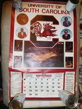 University of South Carolina Gamecocks 1975 MENS BASKETBALL CALENDAR POSTER - $35.00