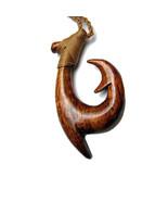 Hawaiian Koa Wood Fish hook Necklace - $25.00