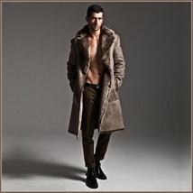Men's 2 in 1 Warm Full Pelt Long Luxury Mink Faux Fur Soft Leather Trench Coat image 7