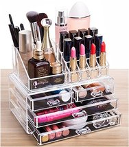 Cq acrylic 4 Drawers and 16 Grid Makeup Organizer with Cosmetic Storage ... - $23.75
