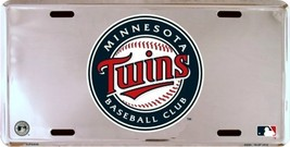 MLB Minnesota Twins Chrome License Plate Auto Tag - $5.95