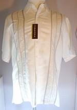 Cuba Vera Mens White Short Sleeve Shirt 50's Cuba Dress Casual Size M Linen - $39.95